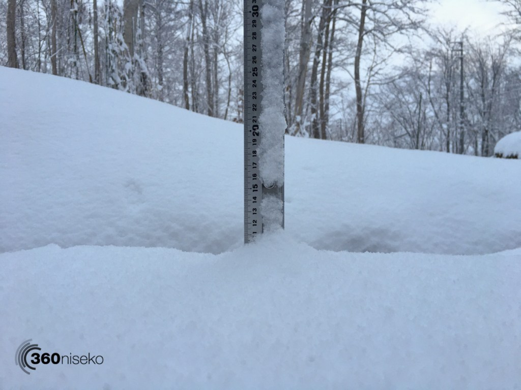 Snowfall in Niseko, 24 November 2017