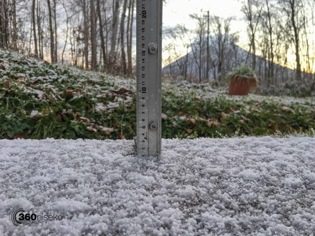 Snowfall in Niseko at 200m, 15 November 2017