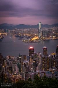 ICC building Hong Kong from Victoria Peak