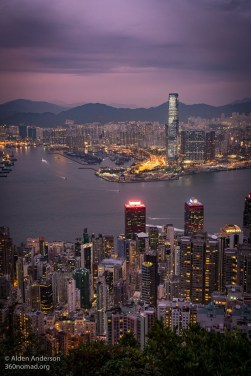 ICC building Hong Kong from Victoria Peak