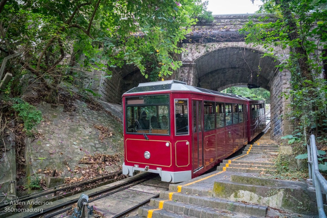 The Peak Tram. Running since 1888.