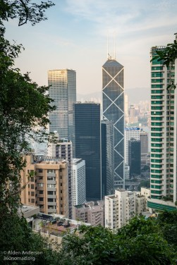 Victoria Peak Hike View - China Bank Building