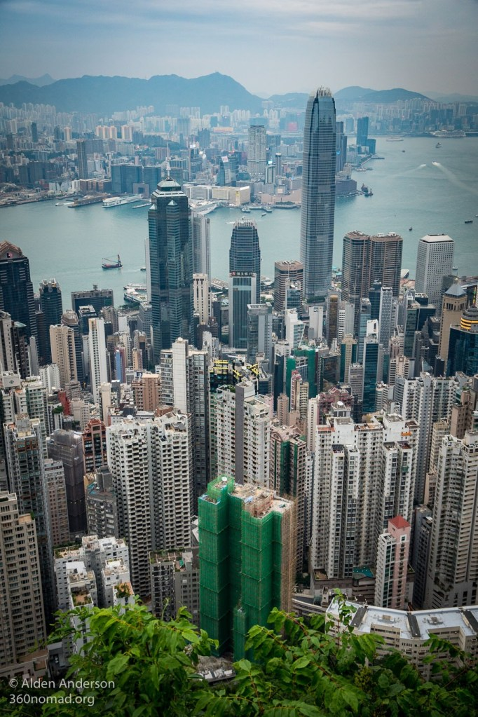 Two IFC building (Victoria Peak Hike — The Classic View of Hong Kong)