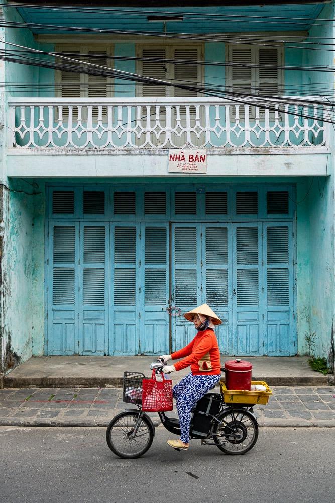 Blue wall Hoi An Vietnam