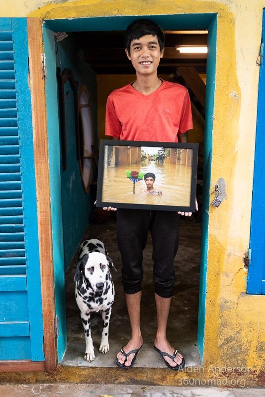 Binh and his dog Hoi An