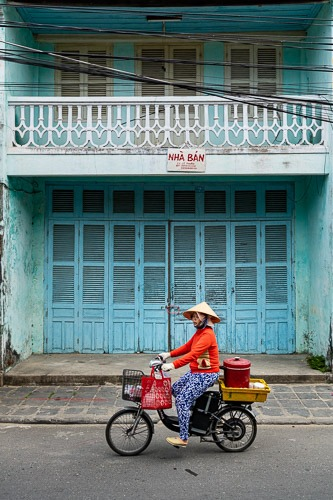 Hoi An Blue Building Photography