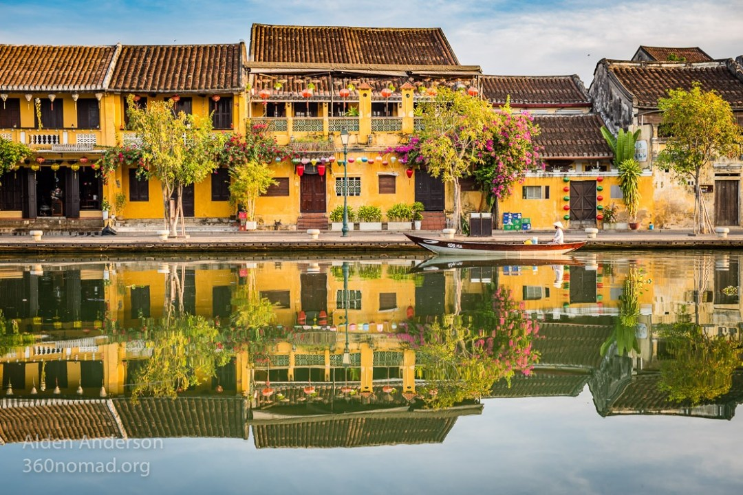 Hoi An Old town morning reflection