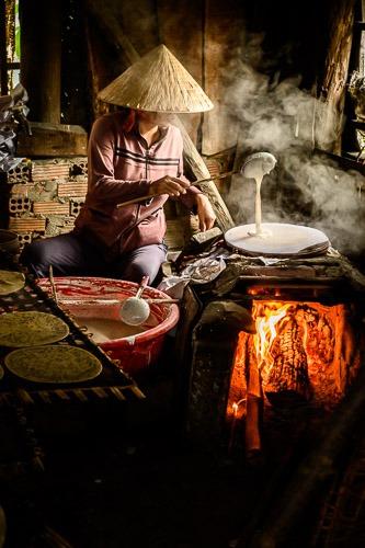 Ly, Making Banh Trang, Hoi An, Vietnam