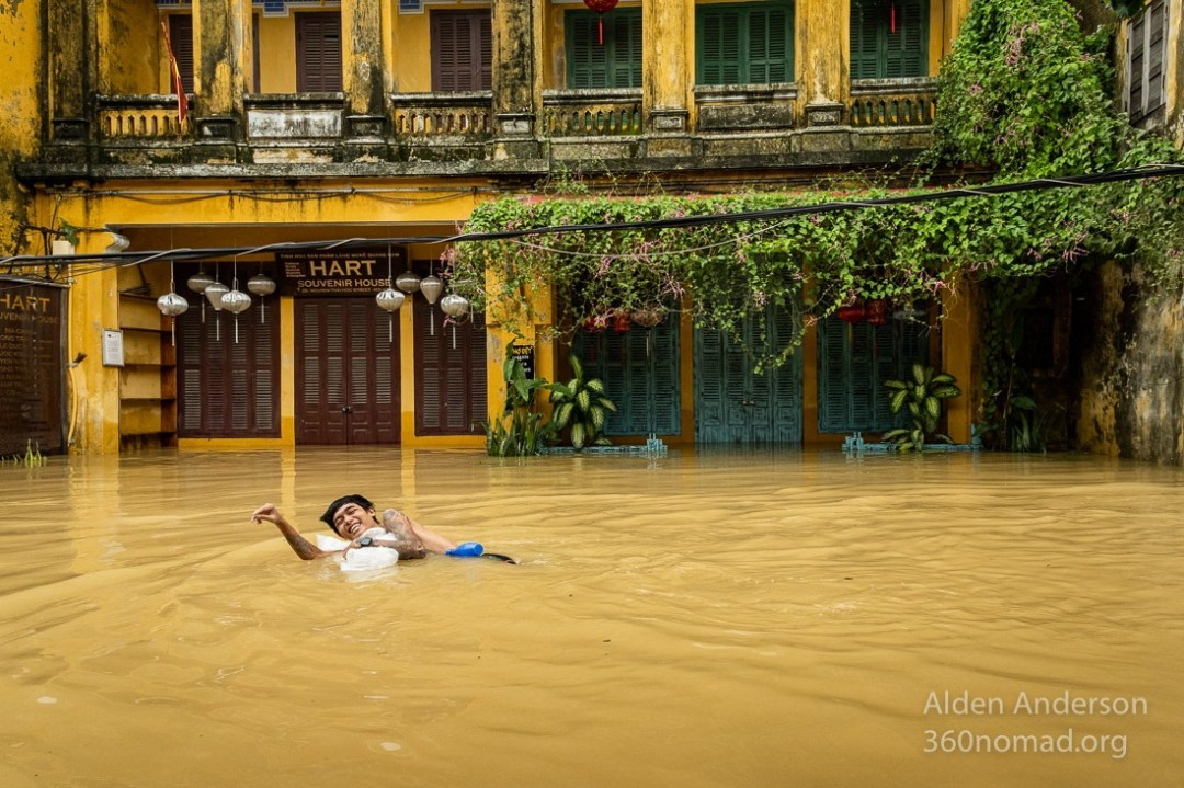 Playing in the flood Hoi An 2020