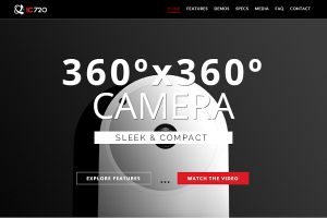IC720 is a fully spherical 360-degree security camera