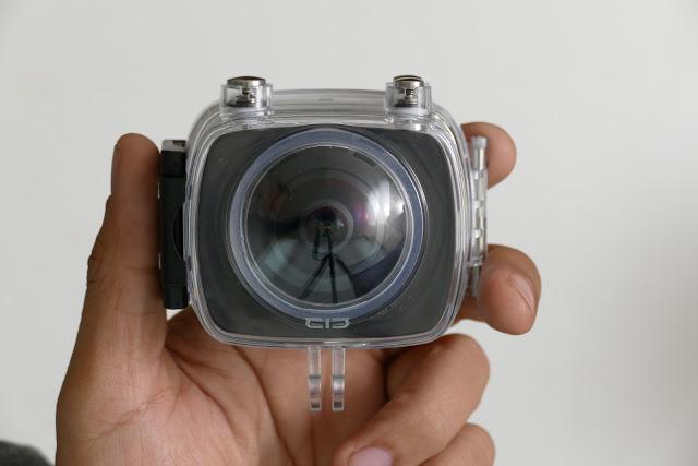 MGCool Elecam 360 with waterproof underwater housing