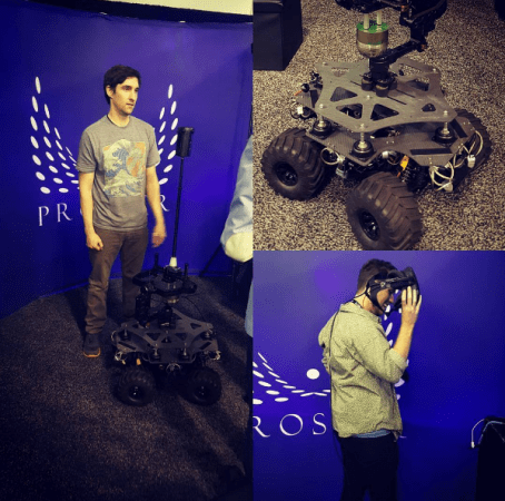 RigRover stabilized remote controlled dolly. Photo by ProsperVR