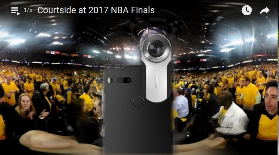 sample 360 videos from Essential Phone's 360 camera accessory