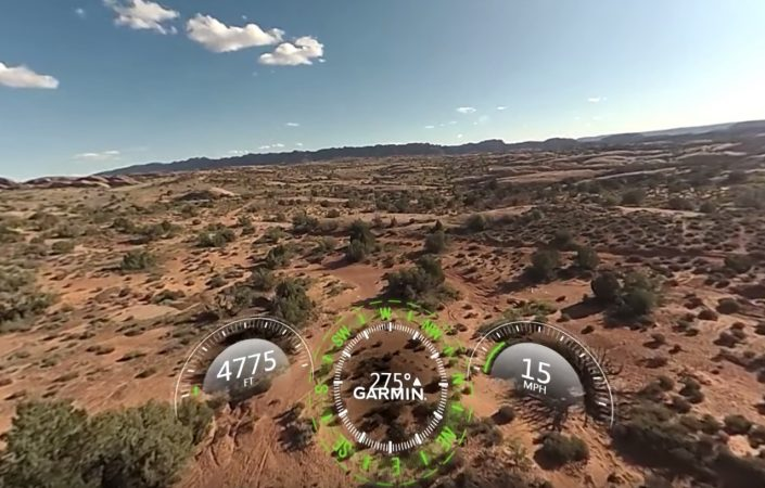 Stabilized aerial 360 video from Garmin Virb 360