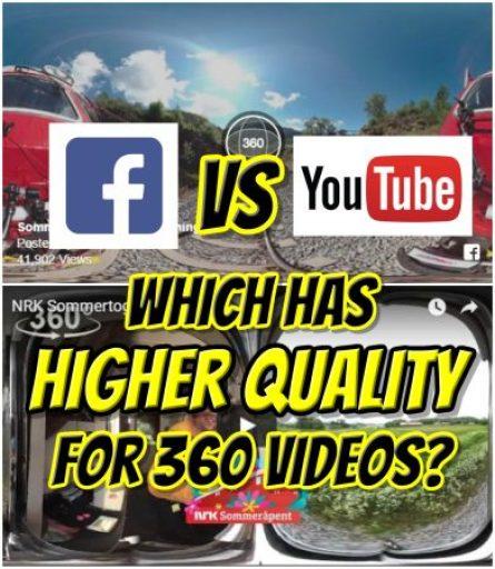 Facebook vs. YouTube for 360 videos