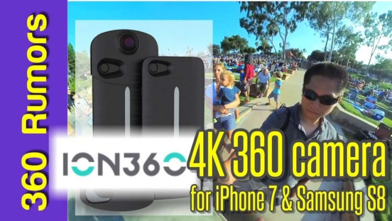 ION360 U 360 camera accessory for iPhone 7 and Samsung S8