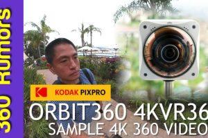 Kodak Orbit360 sample 4K 360 video