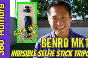 Benro MK10 invisible selfie stick tripod for 360 cameras