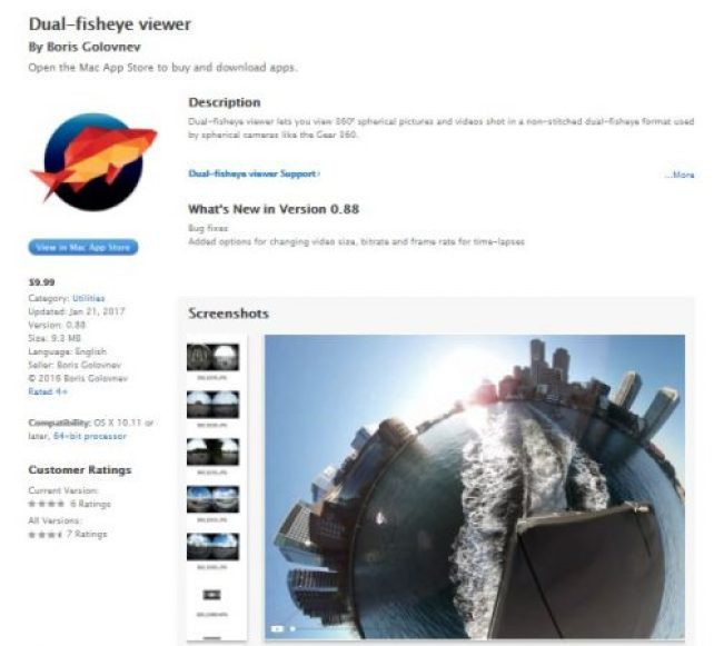 Dual Fisheye Viewer is an inexpensive 360 video stitcher for Mac