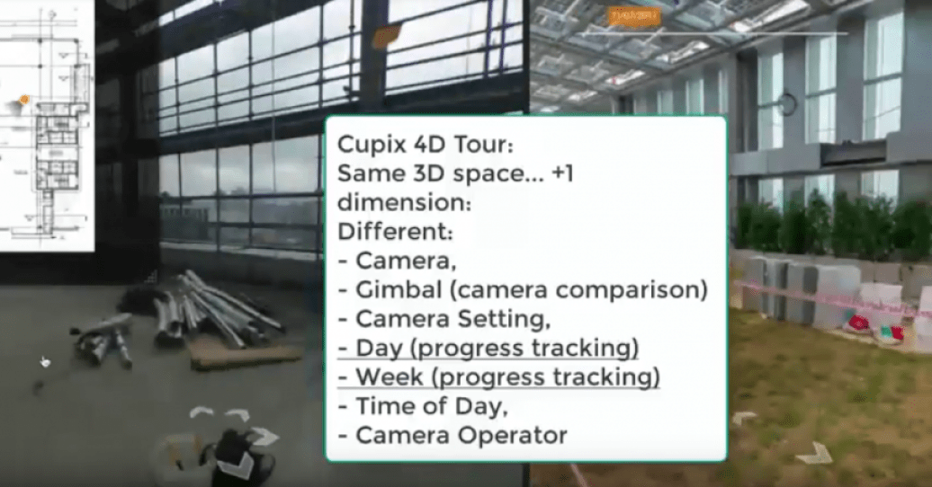 Cupix virtual tours now have 4D comparison view