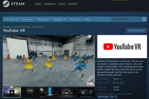 YouTube VR now on Steam
