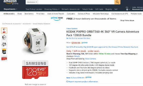 Kodak Orbit360 discount