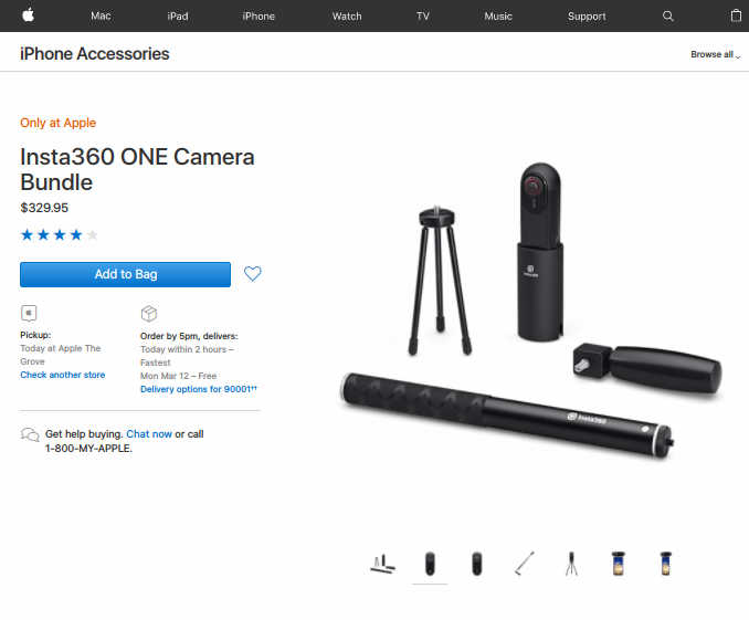 Insta360 One is the first 360 camera in the Apple Store