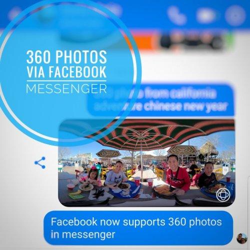 Facebook Messenger now supports 360 photos