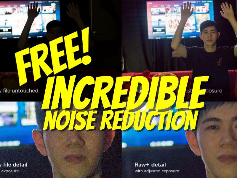 Kandao Raw+ free noise reduction with image stacking