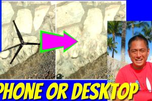 How to remove a tripod or shadow from a 360 photo on smartphone or desktop