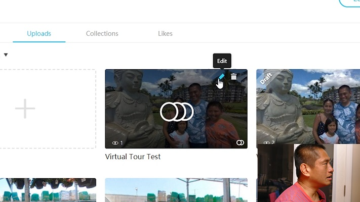 Click on Edit to edit your virtual tour