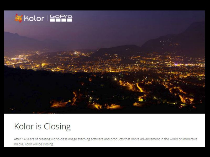 VR software company Kolor is closing