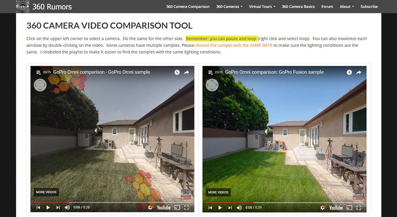 GoPro Omni (360 view) vs. GoPro Fusion (360 view)
