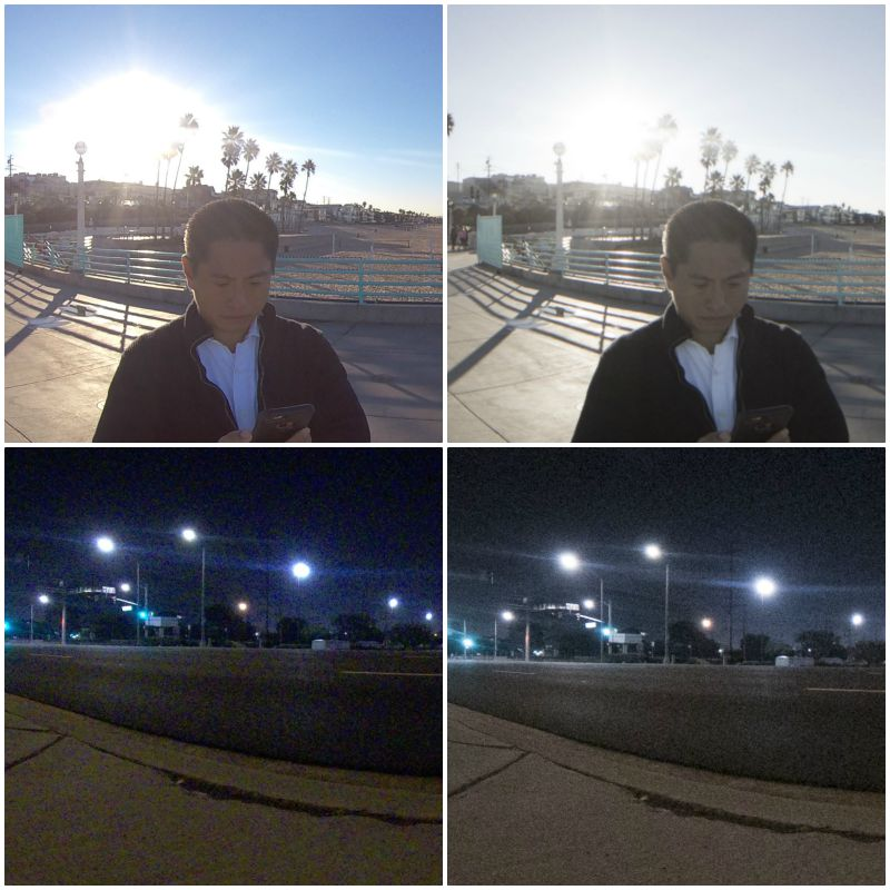 Insta360 One X crops from JPG (left) and Raw (right)