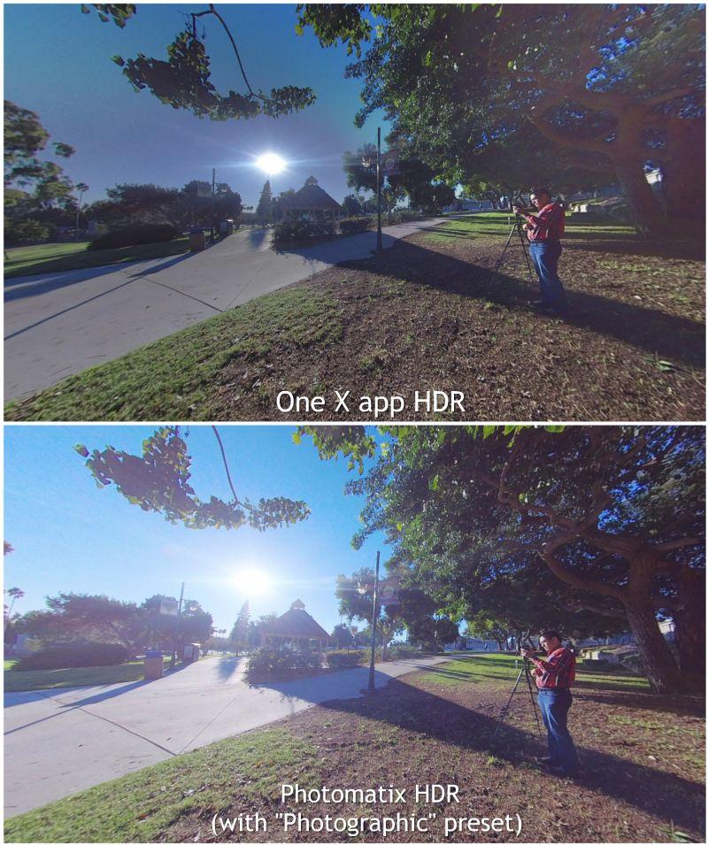 Insta360 One X in-app HDR vs. Photomatix HDR