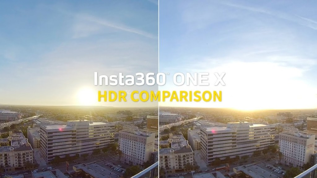 Insta360 One X HDR video sample and comparison