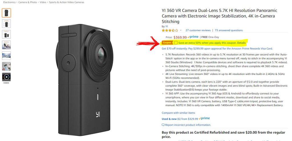 Yi 360 VR discount