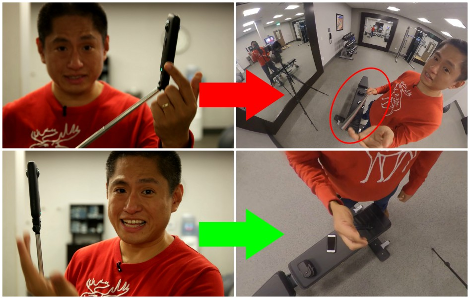 360 camera basics: how to make the selfie stick invisible