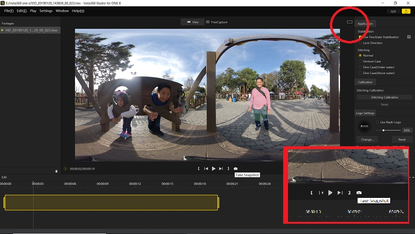 How to get a 360 photo from your 360 video