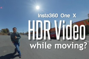 Insta360 One X HDR video tripod required?