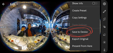 Export the edited Z1 DNG photo as JPG