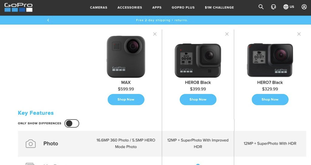 GoPro MAX originally to be $599?