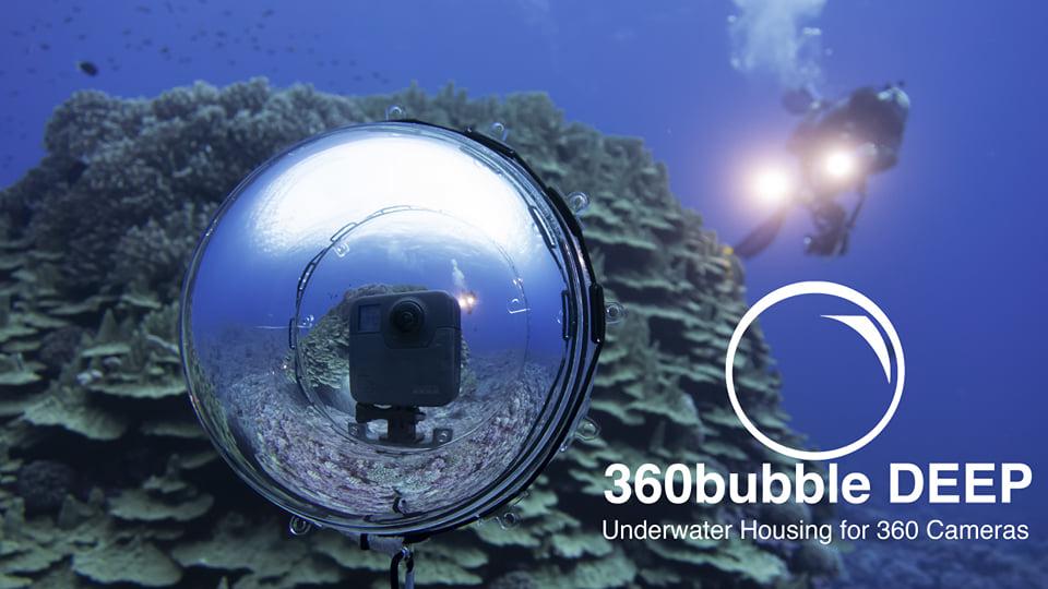 New 360Bubble Deep dive case for 360 cameras