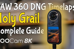 How to make an 8K timelapse video from Raw DNG photos with Qoocam 8K