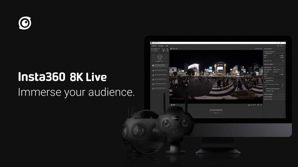 Insta360 8K Live for Insta360 Titan and Insta360 Pro 2