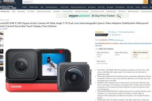 Insta360 One R in stock at Amazon and B&H Photo