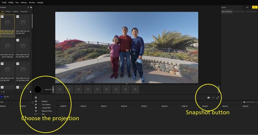 Share non-360 photos from Insta360 Studio 2020
