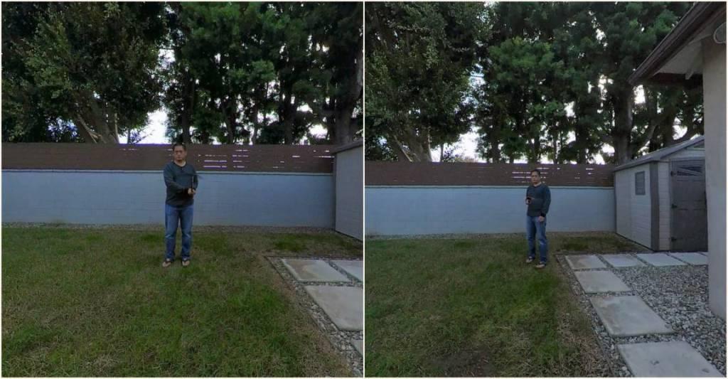 Invisibility test: Telesin (left) vs Koolertron (right))