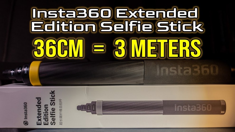 New compact extended selfie stick from Insta360