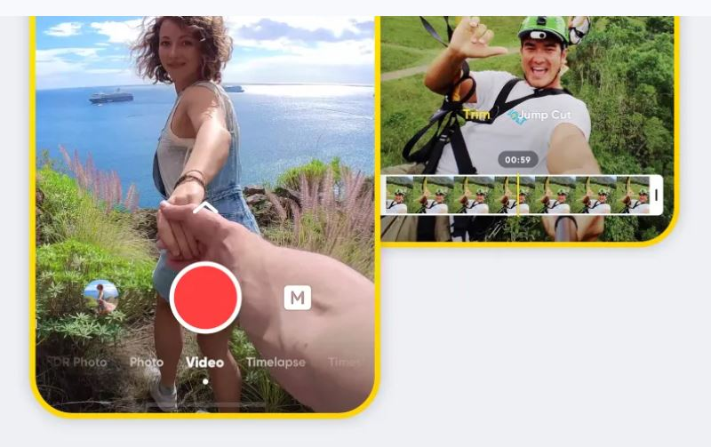 Insta360 app has new interface